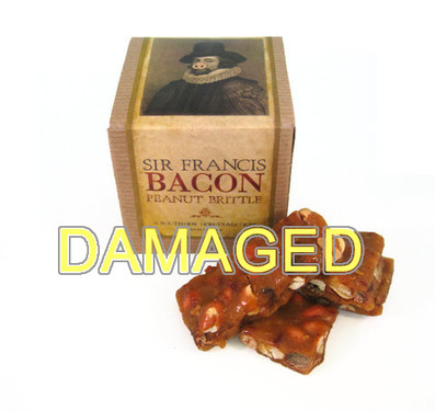 DAMAGED Sir Francis Bacon Peanut Brittle