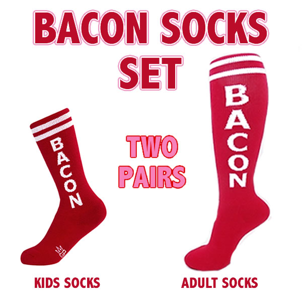 Bacon socks set kids adults