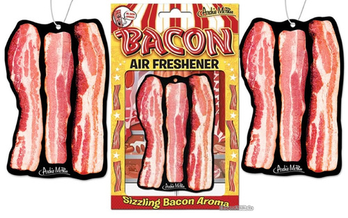 Deluxe Bacon Air Freshener - 3 Pack - Hanging Scented Air Freshner