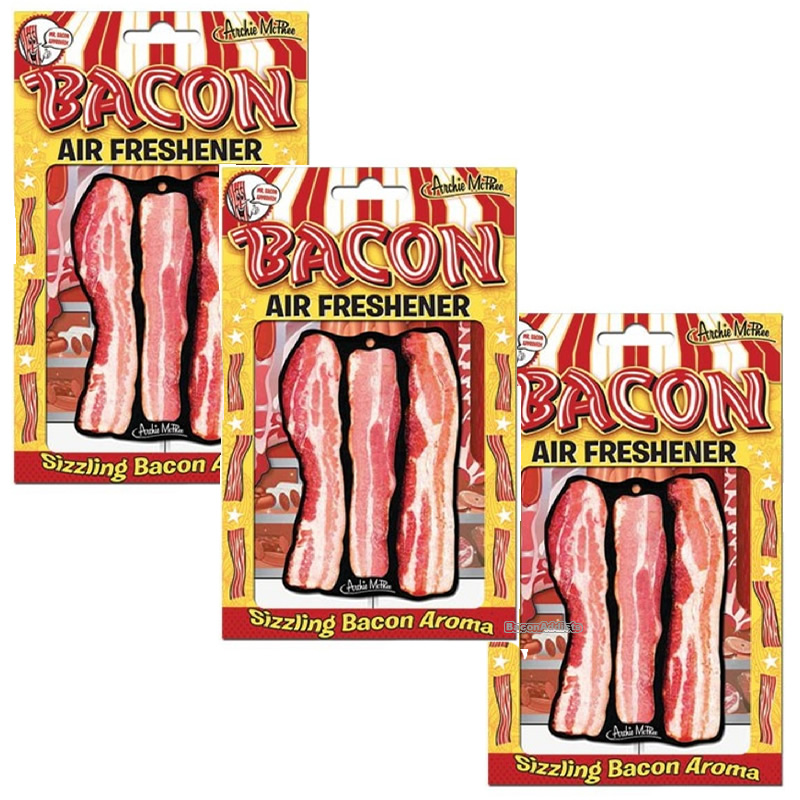Deluxe bacon air freshener package three