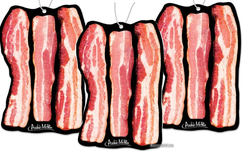 Deluxe bacon air freshener alone three
