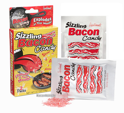 Sizzling Bacon Candy - Bacon Flavored Carbonated Rocks Candy