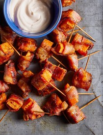 Bacon Wrapped Sweet Potato Bites!