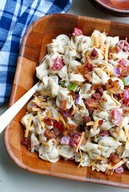 Bacon Ranch Tortellini Salad!
