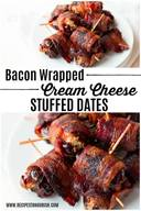 Bacon Wrapped Cream Cheese Stuffed Dates!