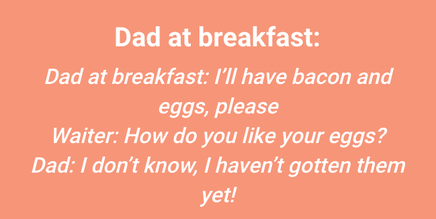 It's A Dad Yolk!