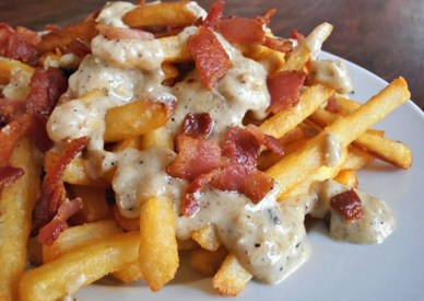 Bacon & Blue Cheese Fries!