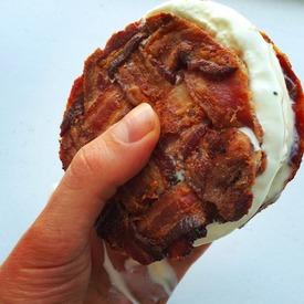 Bacon Weave Ice Cream Sandwich!