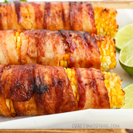 Bacon Wrapped Grilled Corn!