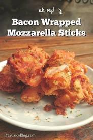 Bacon Wrapped Mozzarella Sticks!