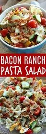 Bacon Ranch Pasta Salad!