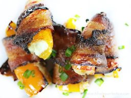 Bacon Wrapped Sweet Pepper Poppers!