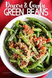 Bacon Garlic Green Beans!