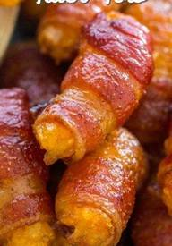 Bacon Wrapped Tater Tots!