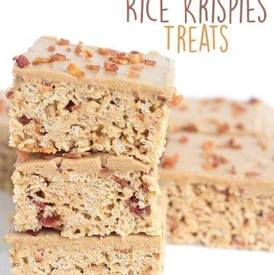 Maple Bacon Rice Krispies Treats!