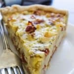 Bacon Ranch Potato Quiche!