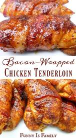 Bacon Wrapped Chicken Tenders!