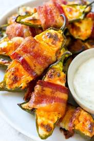 Bacon Wrapped Jalapeno Poppers!