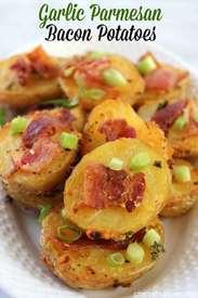 Garlic Parmesan Bacon Potatoes!