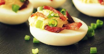 Bacon Deviled Eggs!