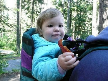 Too Cute Tuesday! Backpack Baby With Bacon!!