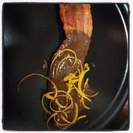 Chocolate Covered Bacon With Candied Orange Peels!