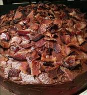 Bacon Frosted Devil's Food Cake!