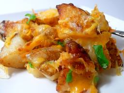 Roasted Ranch Potatoes With Bacon & Cheese!