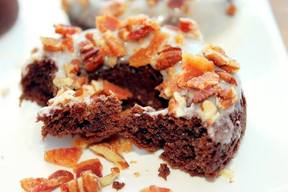 Bacon German Chocolate Doughnuts!