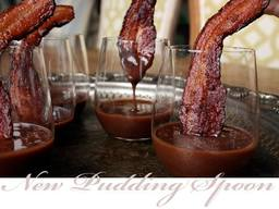 Maple Chocolate Pudding With A Bacon Spoon!