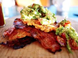 Sweet Corn Fritters With Bacon & Guac!