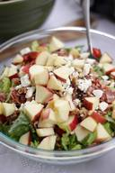 Bacon Apple Raspberry Vinaigrette Salad!