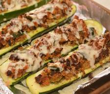 Bacon & Cheese Zucchini Boats!
