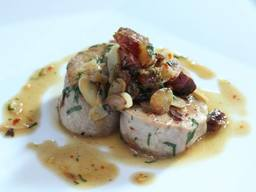 Pork Tenderloin With Bacon, Chile & Toasted Almonds!