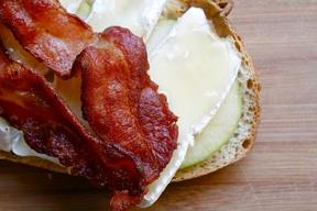 Bacon Apple Brie Honey Sandwich!