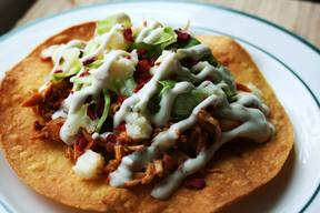 Bacon Ranch Chicken Tostada!