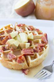 Apple Bacon Waffles With Cider Syrup!