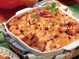 Apple Bacon Cheddar Bread Pudding!