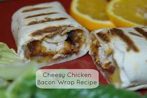 Easy Cheesey Chicken Bacon Wrap!