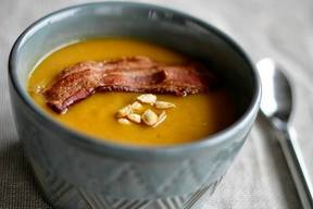 Butternut Squash Soup With Bacon!