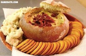 Hot Bacon Cheese Dip In Bread Bowl!