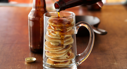 Beer & Bacon Mancakes!