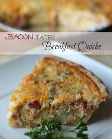 Bacon Tater Quiche!