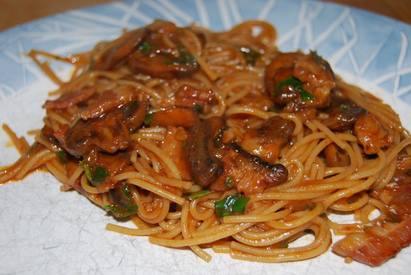 Bacon Spaghetti!