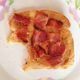 Bacon & Peanut Butter Sandwich!
