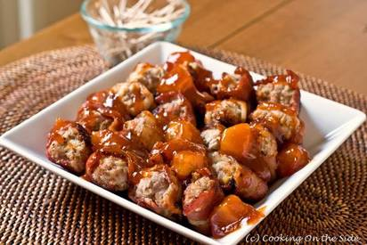 Bacon Wrapped Meatballs!