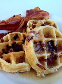 Bacon Belgium Waffles!