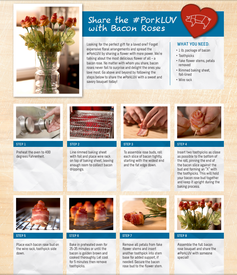 Bacon Roses Step-by-step Instructions