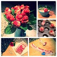 Bacon Roses Step-by-step