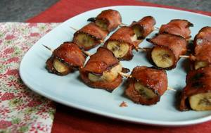 Bacon Wrapped Bananas!